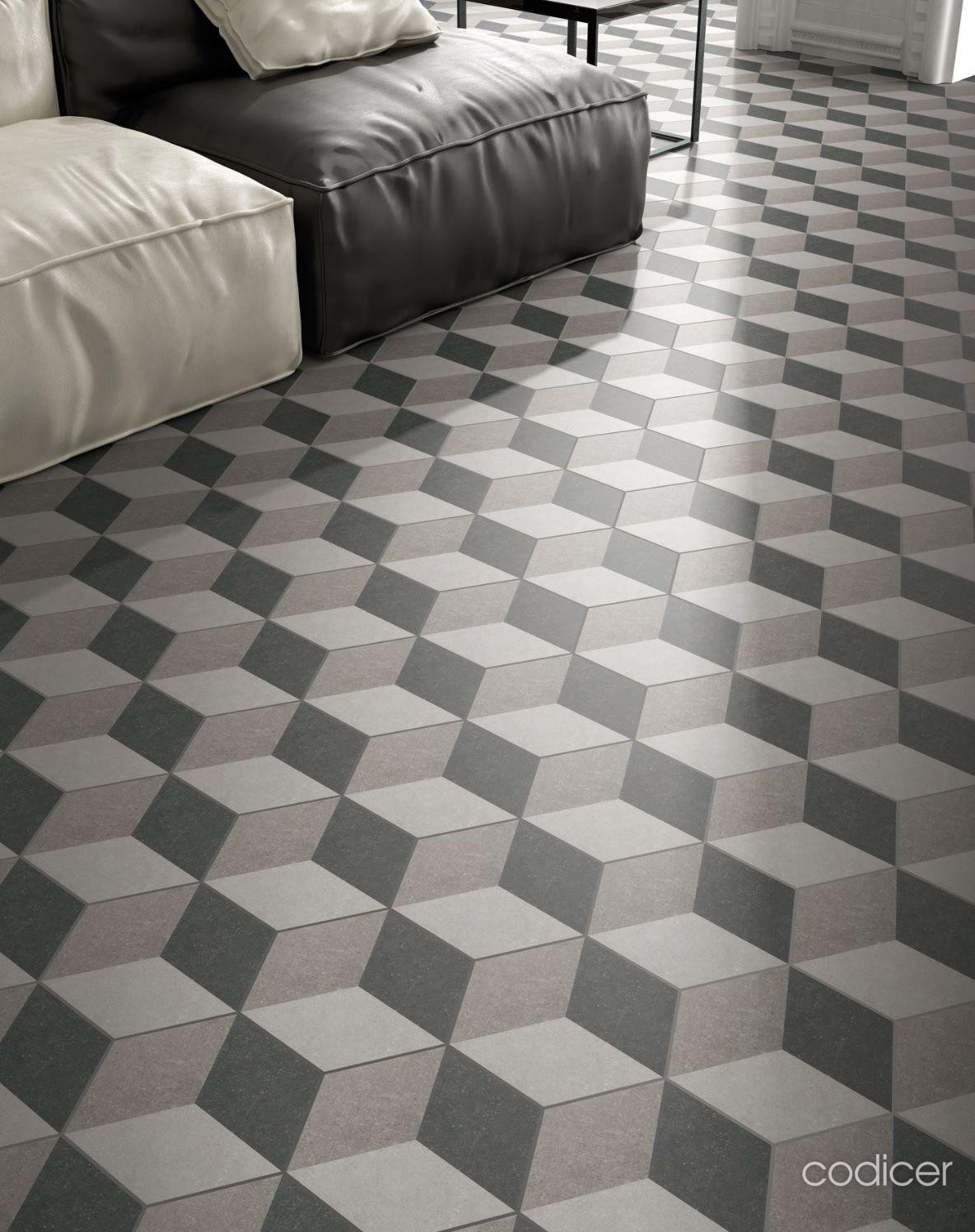 Shop Amp Buy Codicer Hexagon Traffic 3d Grey At Tile Savers